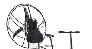 La bicicleta que se convierte en parapente