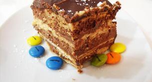 Receta fácil de tarta de galletas con nutella