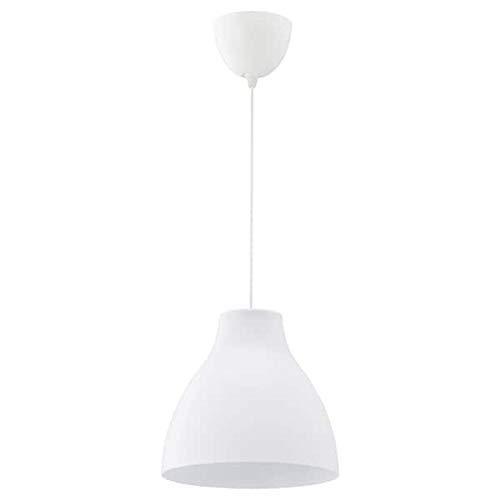 lampara ikea blanca de ondas de techo