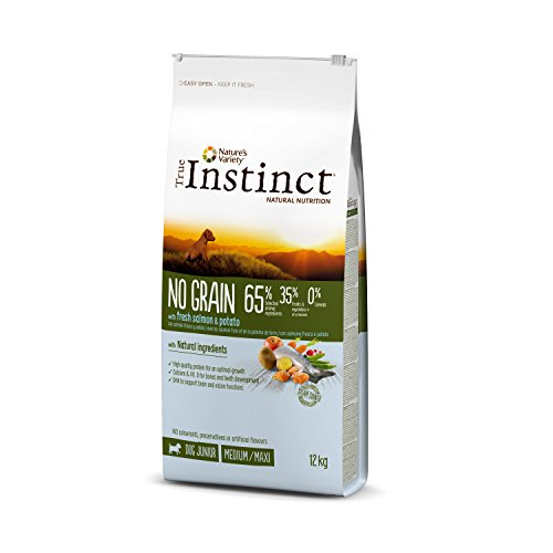 True Instinct No Grain Medium-Maxi Pienso para Perro Junior con Salmón - 12 kg