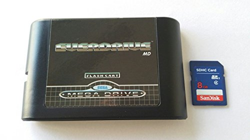 Everdrive Sega Megadrive MD genesis Flash Cart Mega Drive + 8 Gb Sd Card