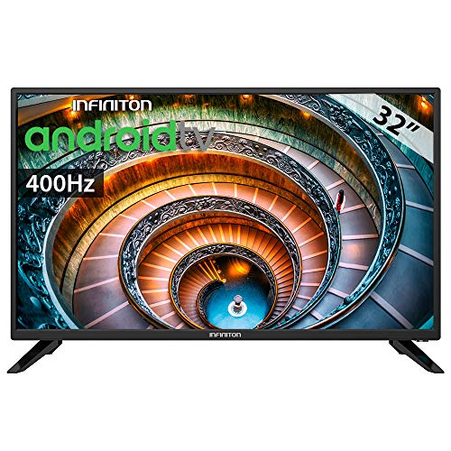 "TV LED INFINITON 32"" TV INTV-32LA HD - Android TV- Smart TV - TDT2 - WiFi - USB Grabador"