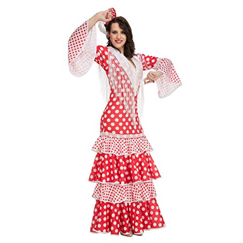 My Other Me Me-203863 Disfraz de flamenca Rocío para mujer, color rojo, XL (Viving Costumes 203863)