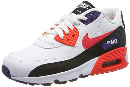 Nike Air MAX 90 LTR (GS), Zapatillas de Running para Niños, Blanco (White/BRT Crimson/Black/Court Purple 117), 40 EU