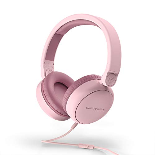 Energy Sistem Headphones Style 1 Talk Pure Pink (Over-Ear, 180º Foldable, Detachable Cable Audio-In)
