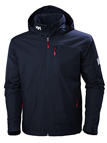 Helly Hansen Crew Hooded Midlayer - Chaqueta Impermeable, Cortavientos y Transpirable, con Forro Polar y Capucha Integrados, Hombre, Azul (597 Navy), XL