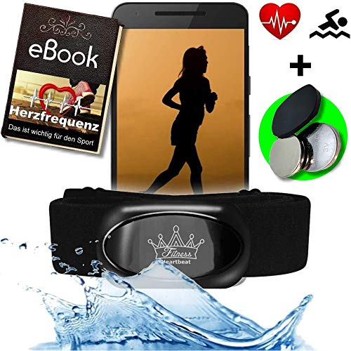 Fitness Prince© Heartbeat 2 Bluetooth 4.0 Heart Rate Monitor y ANT + PARA Runtastic Pro, Wahoo Strava App, Nike + y más sensor HRM para Garmin, TomTom, iPhone IOS Android y Gym