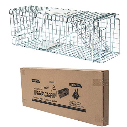 D4P Display4top Animal Trap Cage Trampa de Captura de Animales Vivos, Gatos, Perros, Conejos, roedores (61 x 18 x 21cm)