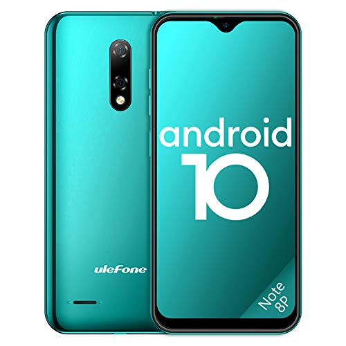 "Ulefone Teléfono Móvil 2020, Note 8P Android 10 Smartphone Libre 16GB ROM (128GB SD), Pantalla 5.5"" Water-Drop Screen Movil, 8MP 5MP, 2700mAh Batería, 3-Card Slot, GPS/WiFi/Hotspot-[Europea,Verde]"
