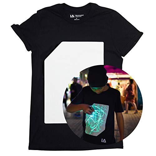Illuminated Apparel Camisetas Luminosas Interactivas (9-11 Años, Negro/Verde)