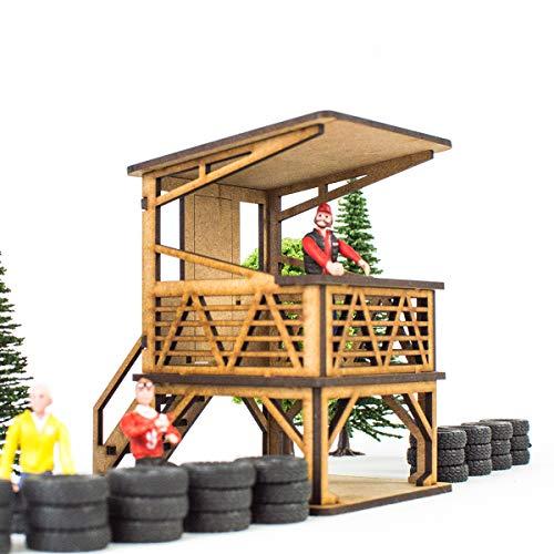 Ninco Slot Kit de Madera para Montar DIY Compatible con circuitos Coches Scalextric Carrera y ScaleAuto PROSCALE Cartel Decorativo maqueta 1:32 para Pistas de Slot Scalextric Original
