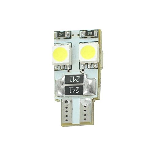 Planet Line pl313 W bombillas LED T10 W5 W 4LED SMD5050 12 V, color blanco, Set de 2