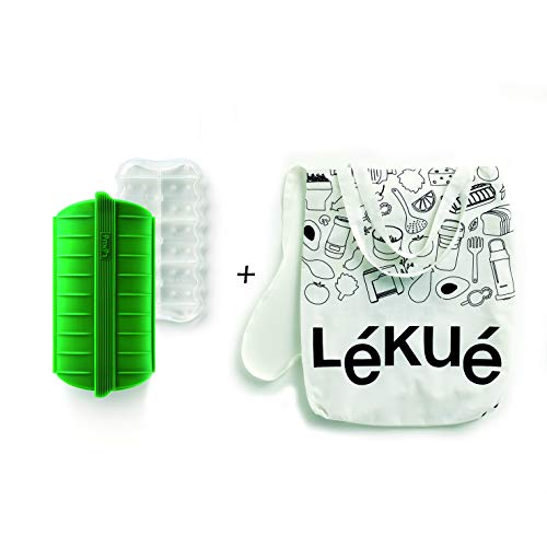 Lékué Estuche de Vapor Green Shopper Kit, Silicona